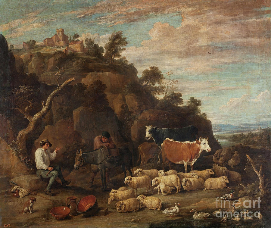 Pastoral Conversation by David Teniers the Younger