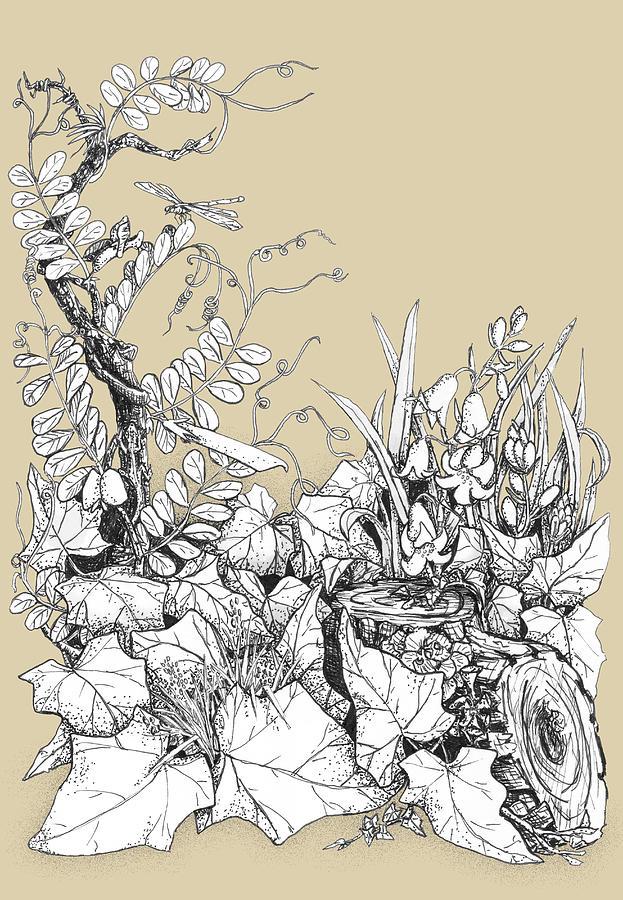 Plant Digital Art - Pastoral Detail by Siene Browne