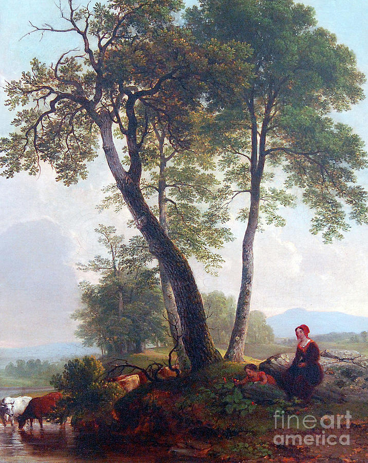 Pastoral Scene by Asher Brown Durand