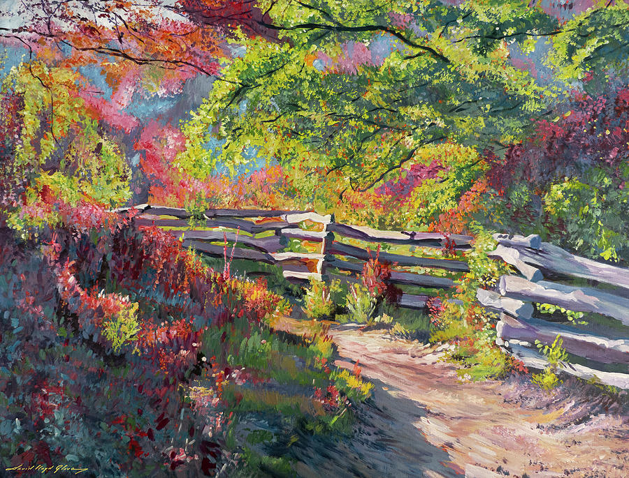 Path Along The Wooden Fence Painting
