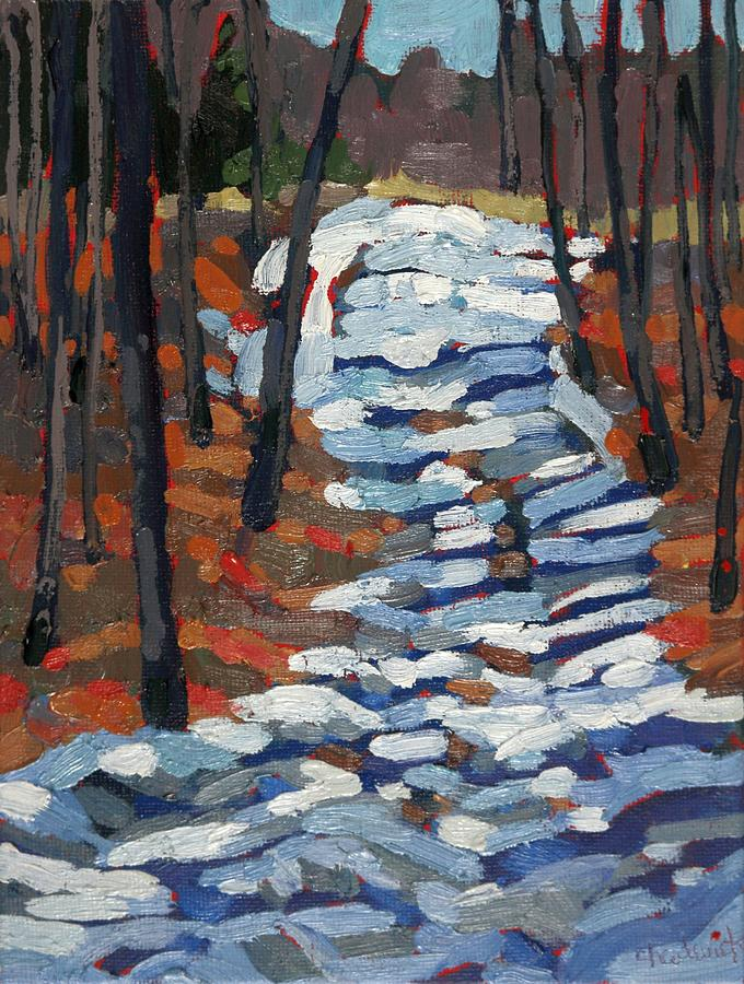 March Painting - Path to Paradise by Phil Chadwick
