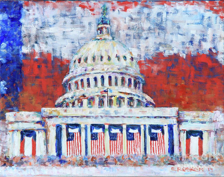 Usa Painting - Patriotic Dome by Elizabeth Roskam