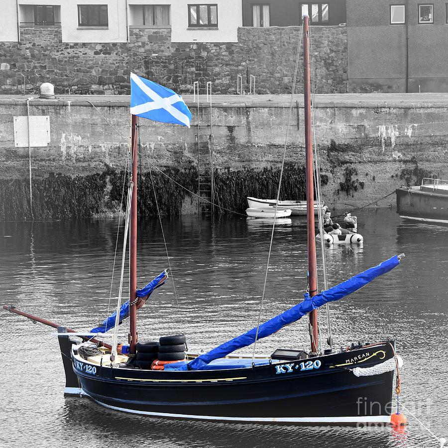Patriotic Sailboat, Dunbar Harbour by Yvonne Johnstone