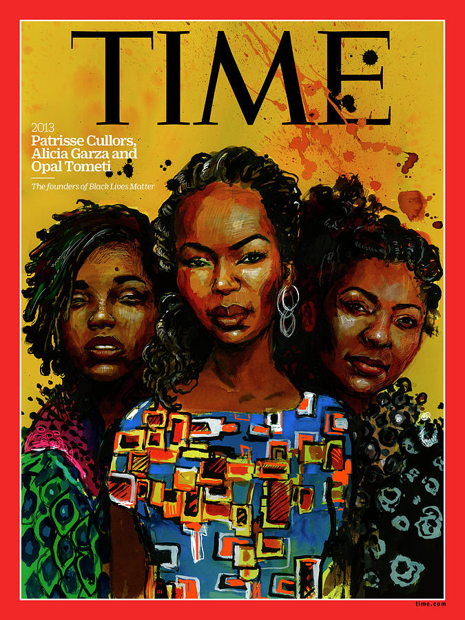 Time Photograph - Patrisse  Cullors, Alicia Garza, Opal Tometi, 2013 - Founders of Black Lives Matter by Illustration by Molly Crabapple for TIME