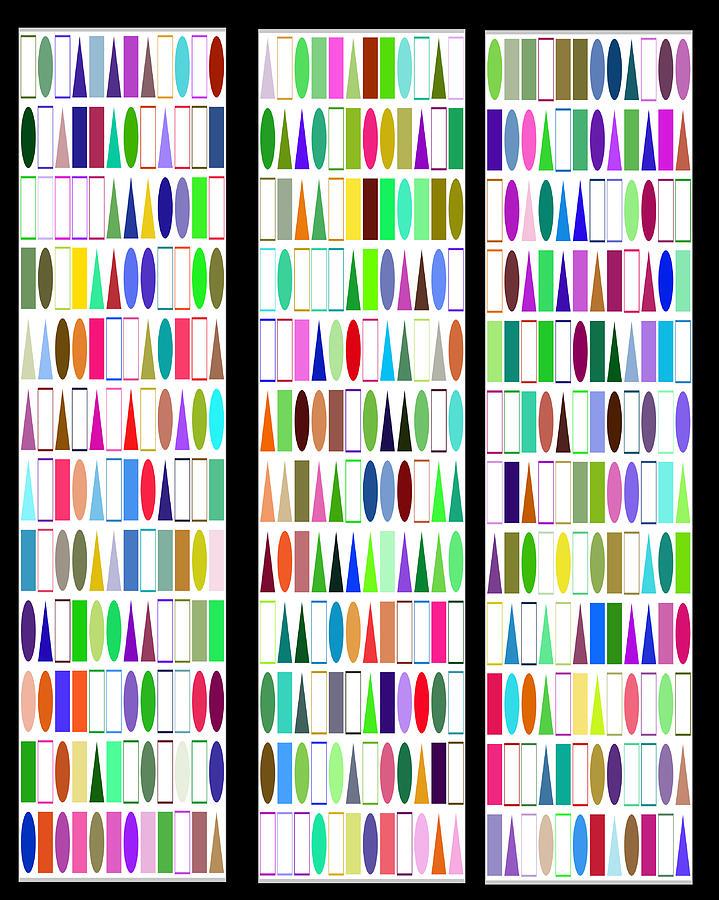 Pattern Triptychs by Petri Keckman