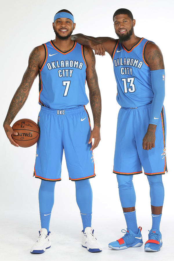 Paul George and Carmelo Anthony Photograph by Layne Murdoch