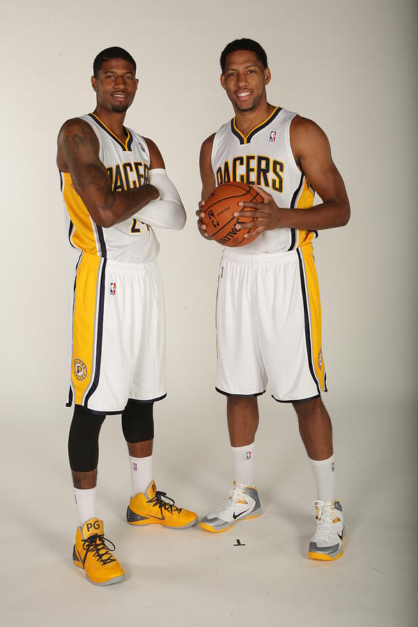 Paul George and Danny Granger Photograph by Ron Hoskins