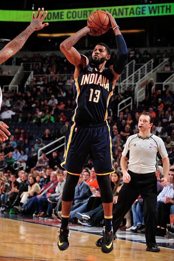 Paul George Photograph by Barry Gossage