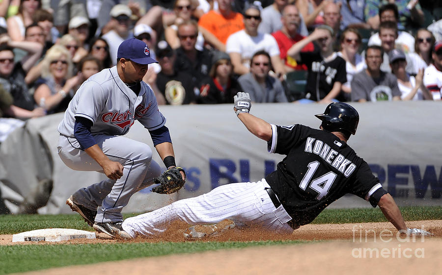 Paul Konerko and Jhonny Peralta Photograph by Ron Vesely
