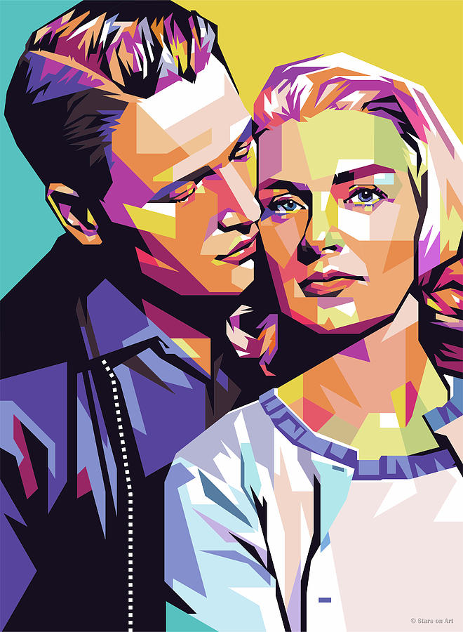 Paul Newman And Joanne Woodward Digital Art