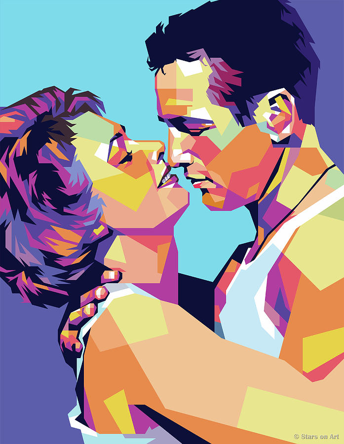 Paul Newman And Piper Laurie Digital Art