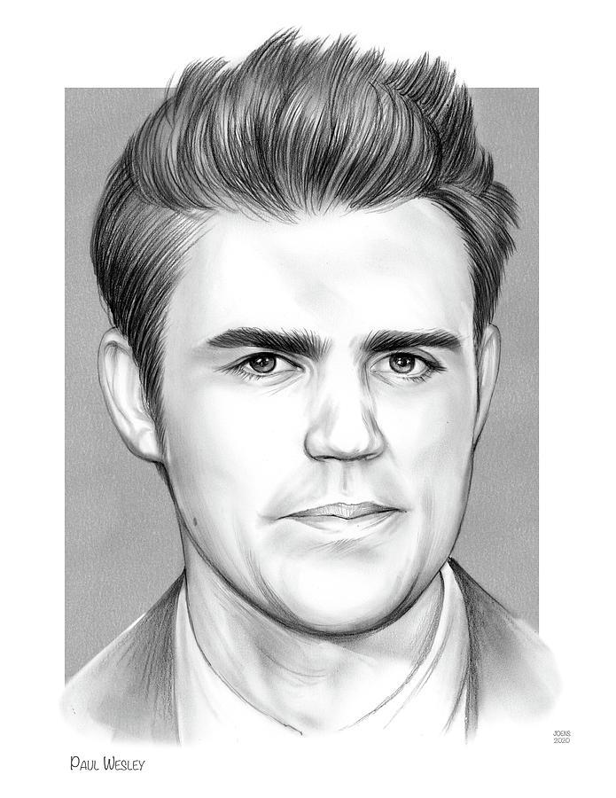 Paul Wesley 2 Drawing