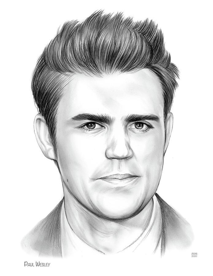 Paul Wesley Drawing