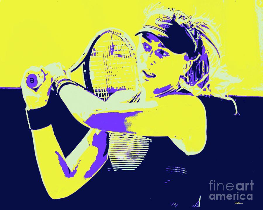 Tennis Painting - Paula Badosa by Jack Bunds