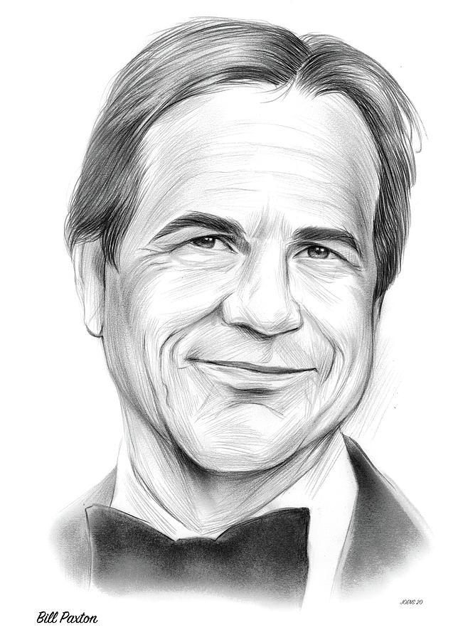 Bill Paxton Drawing - Paxton - Pencil by Greg Joens