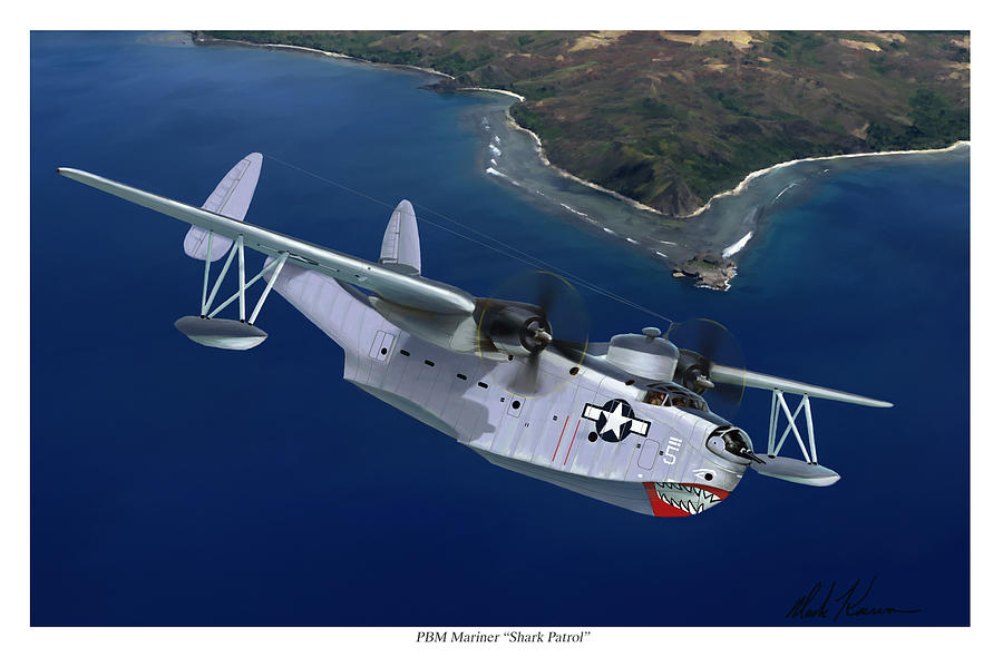 Airplanes Painting - PBM Mariner by Mark Karvon