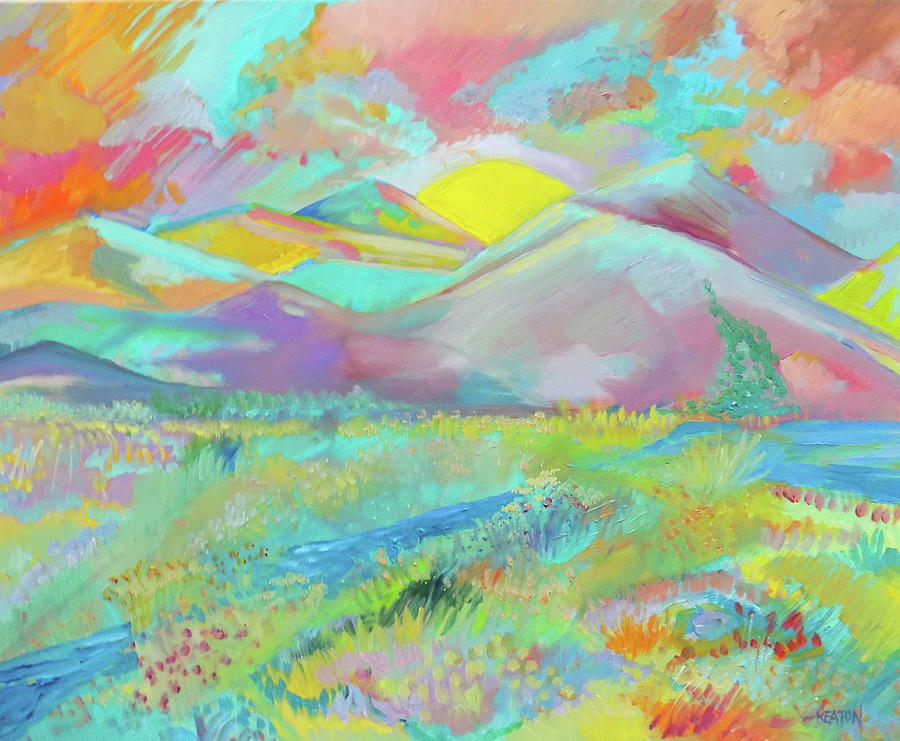Peace In The Valley Of Dreams Painting