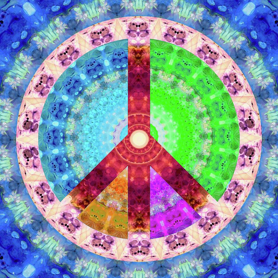 Chakra Painting - Peace Mandala - Colorful Art - Sharon Cummings by Sharon Cummings