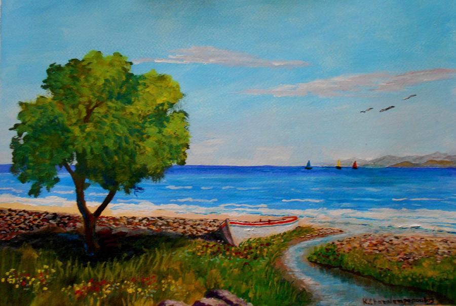 Peaceful Beach Painting