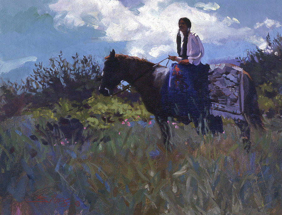 Peacefully Alone Painting by Betty Jean Billups