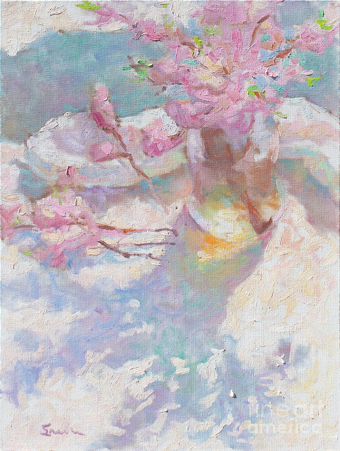 French Impressionism Painting - Peach Blossoms by Srishti Wilhelm