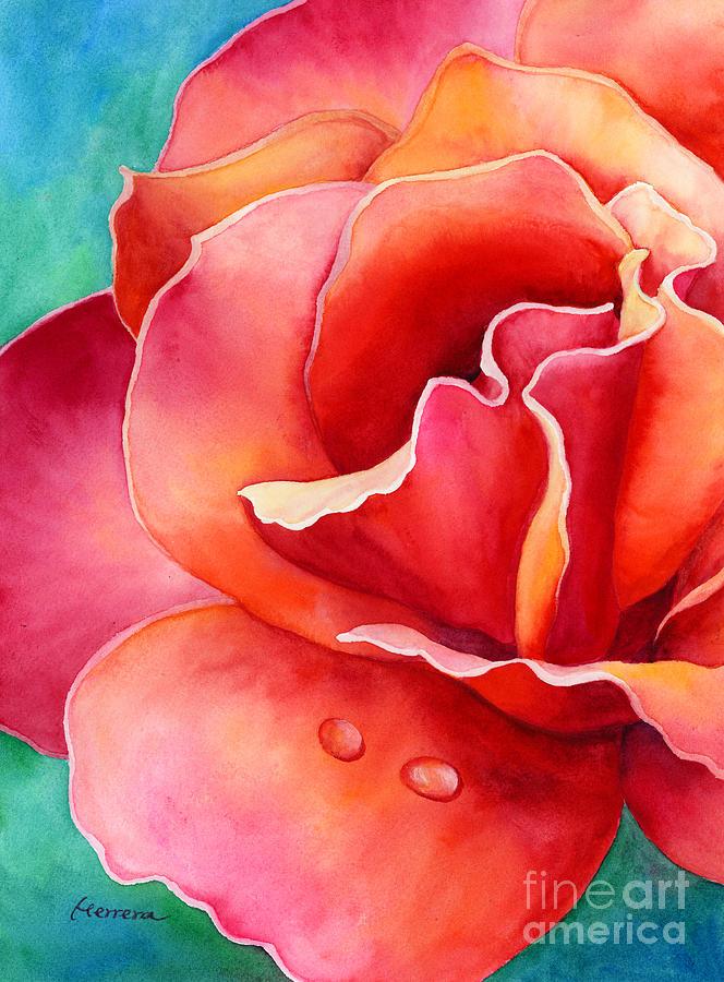 Peach Rose 2 Painting
