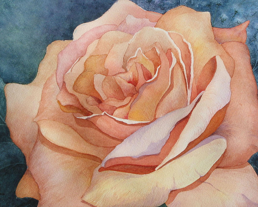 Peach Rose Detail by Lael Rutherford