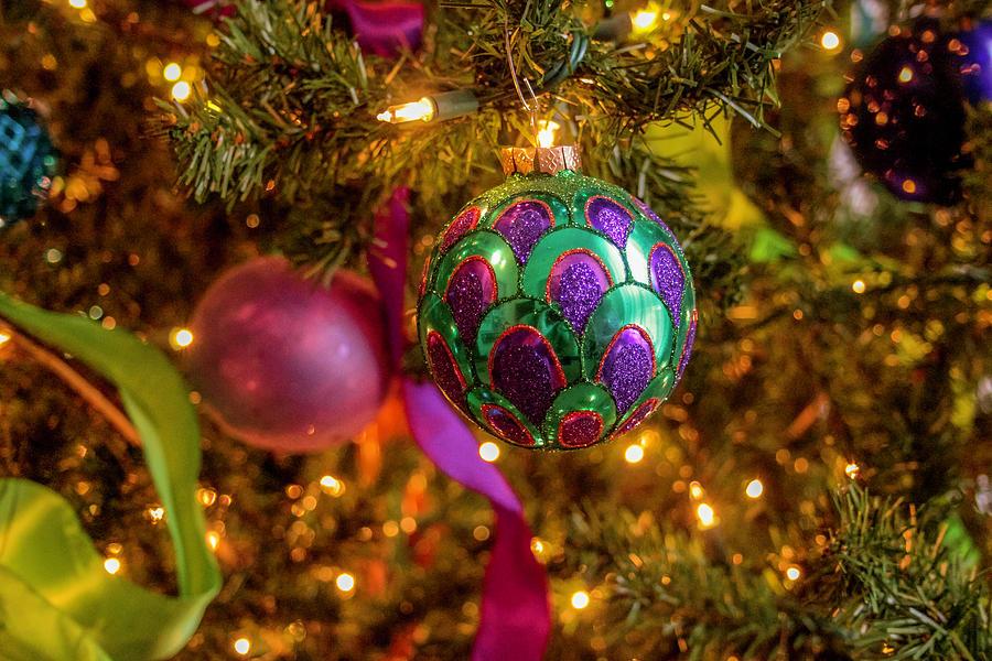 Peacock Christmas Ball by Robert Wilder Jr