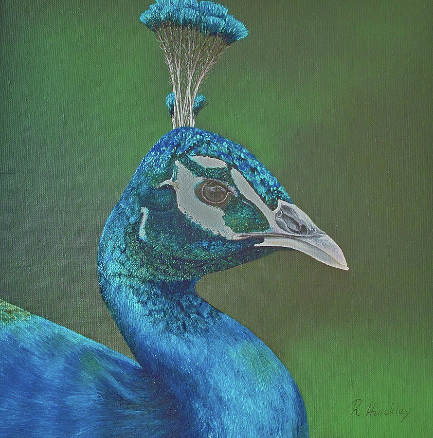 Peacock Painting - Peacock II by Russell Hinckley
