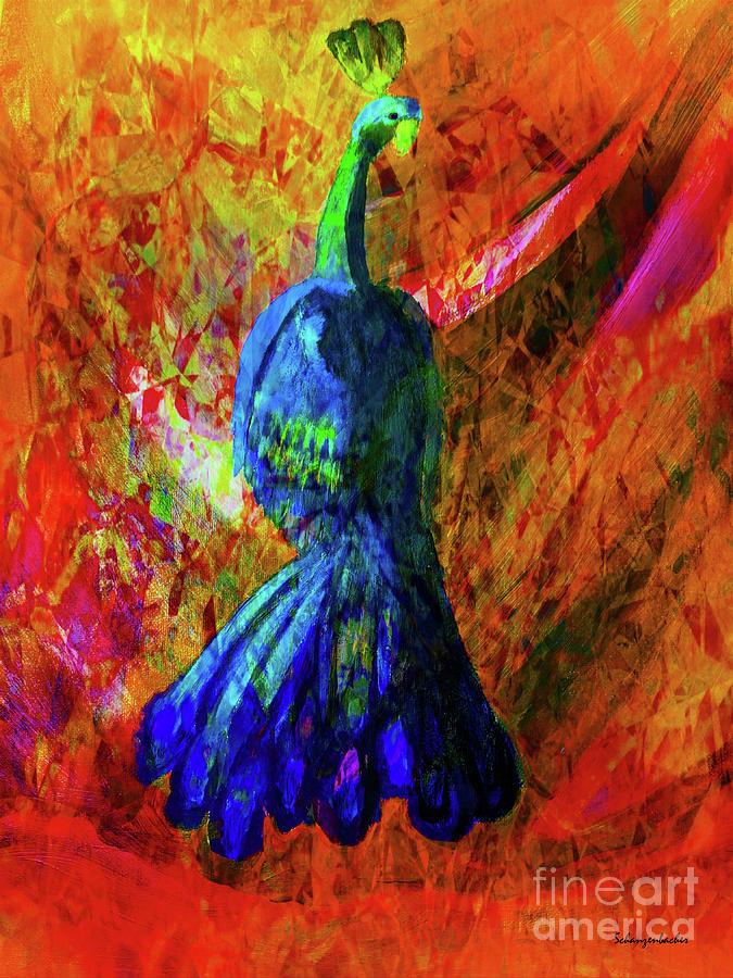 Peacock Mixed Media