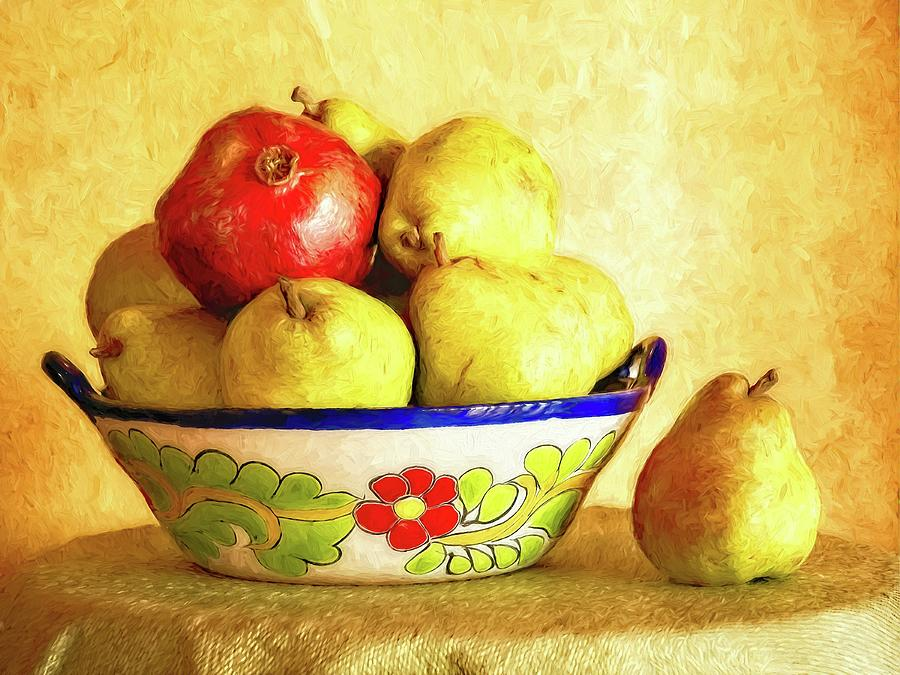 Pears and a Pomegranate by Sandra Selle Rodriguez