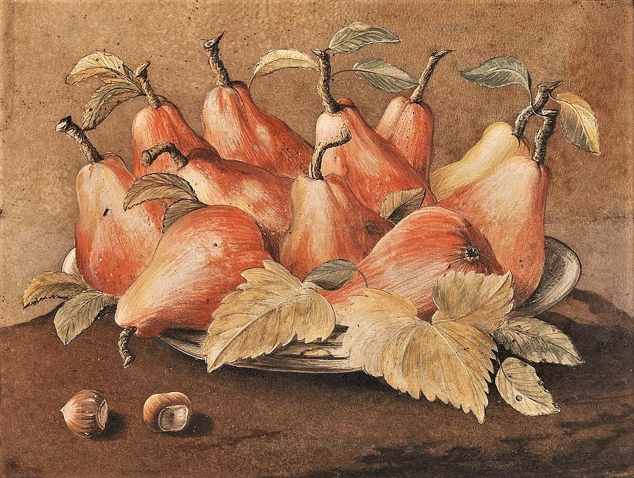 Pears And Hazelnuts Painting