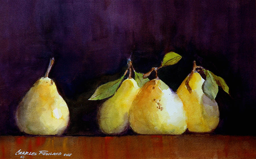 Still Life Painting - Pears by Charles Rowland