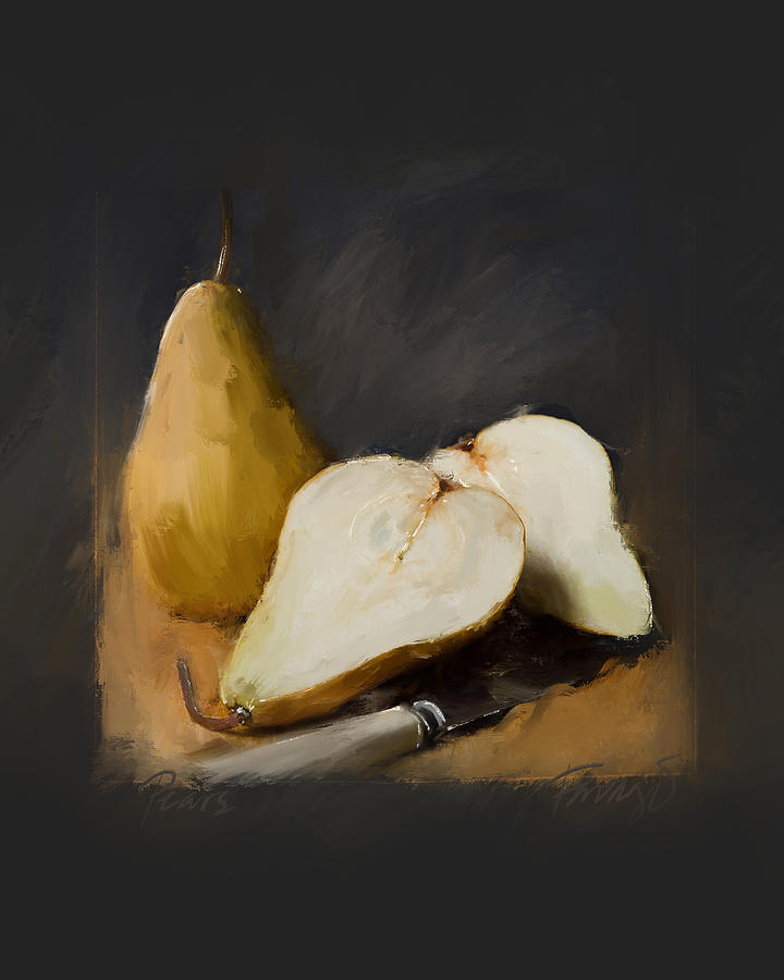 Pears Painting by Peter Farago
