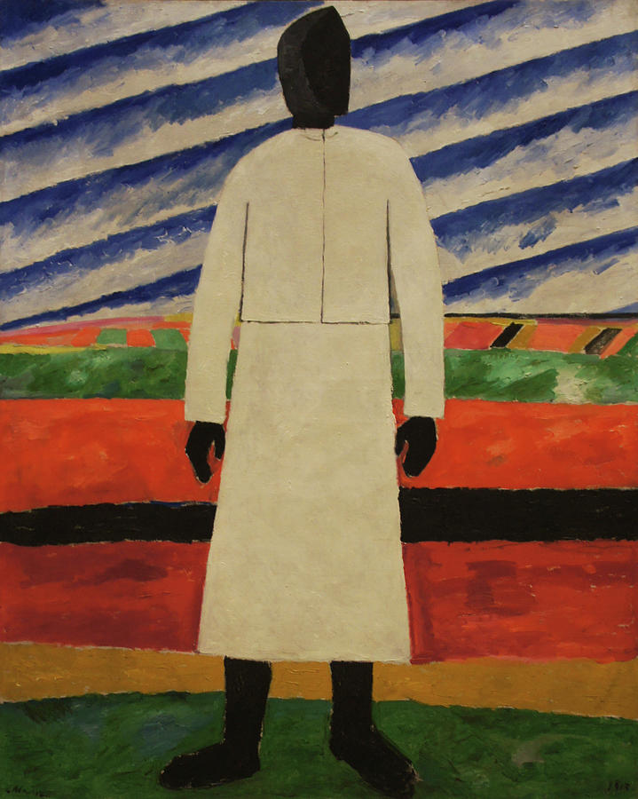 Peasant Woman Painting by Kazimir Malevich