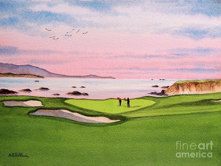 Pebble Beach Golf Course Hole 8 Painting