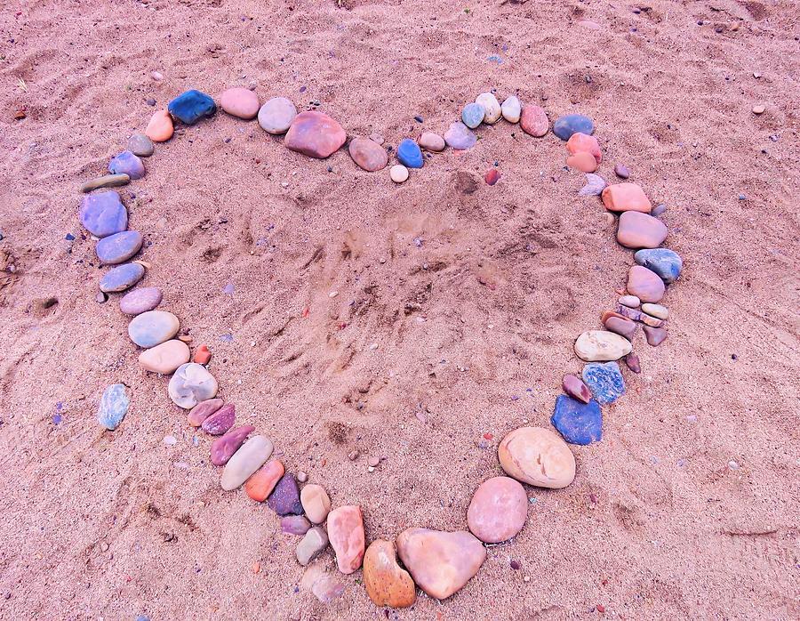 Pebble Beach Heart by Judy Kennedy