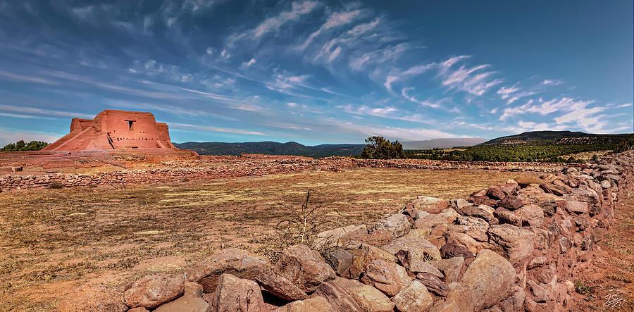 Pecos Church Ruin Vista by Endre Balogh