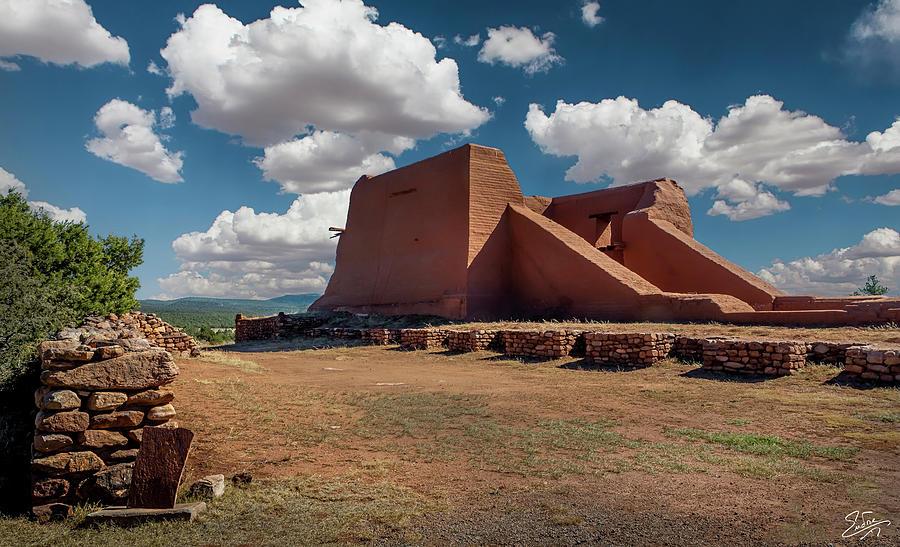 Pecos Pueblo Church Ruin by Endre Balogh