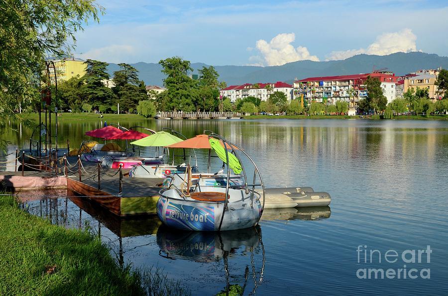 Pedal Boats And Leisure Crafts Nurigeli Lake May 6 Park Batumi Georgia Photograph