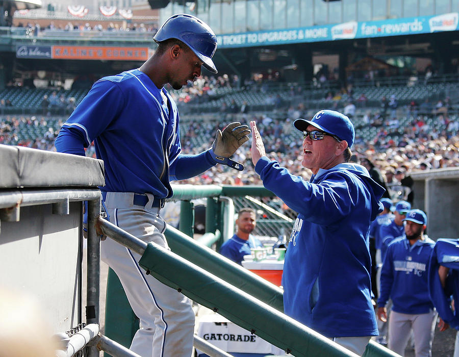 Pedro Ciriaco And Ned Yost Photograph by Gregory Shamus
