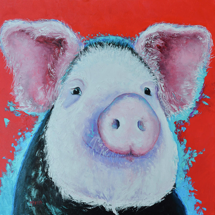 Pedro Pig Painting