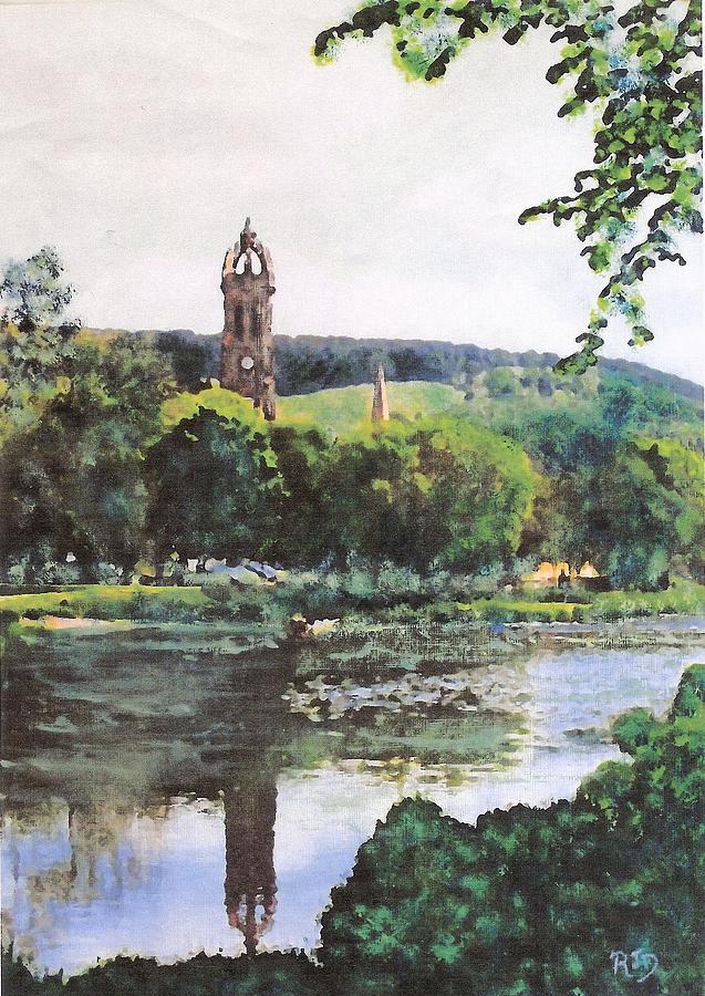 Peebles Old Parish Church Painting