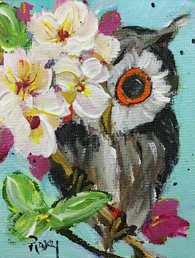 Peek A Boo Owl Painting