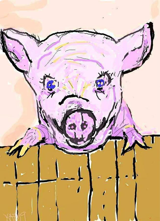 Peeking Piggy by Kathy Barney