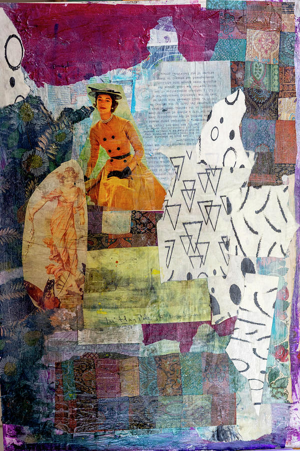 Magazine Pages Mixed Media - Peeling Paper 820 by Cathy Anderson