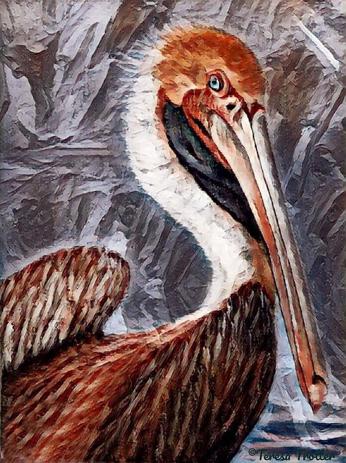 Pelican Portrait Painting