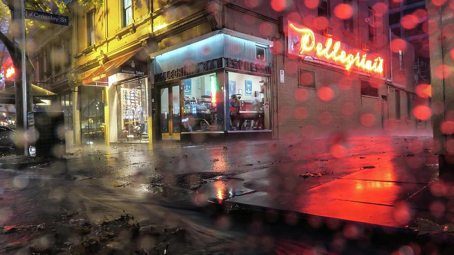 Cafe Photograph - Pellegrinis Melbourne  by Leigh Henningham