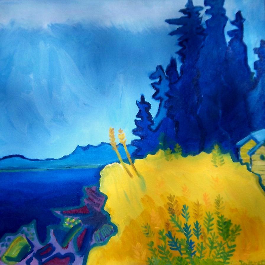 Seascape Painting - Pemaquid Point by Debra Bretton Robinson