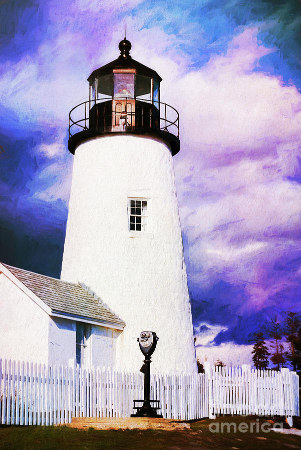 Pemaquid Point Lighthouse Painterly by Anita Pollak